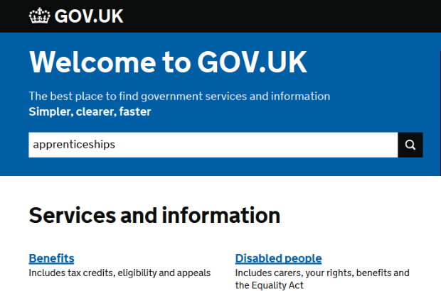 Apprenticeships on GOV.UK
