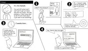 User Research cartoon - hannah