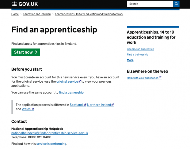 Find an Apprenticeship