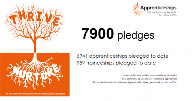 National Apprenticeship Week Pledge-o-meter