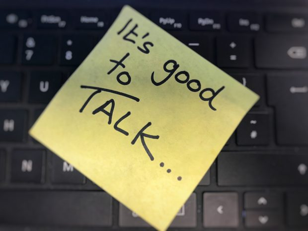 its good to talk post it note