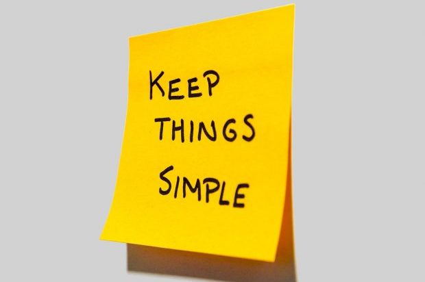 post it not with Keep things simple on it