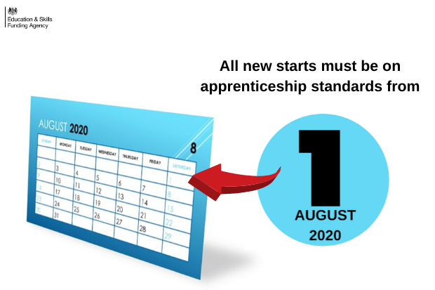 Calendar pointing at 1st August 2020